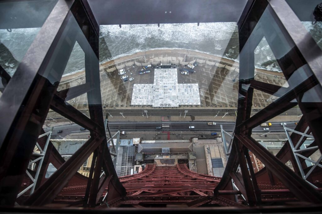 View from Blackpool Tower glass floor.